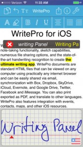 WritePad Pro for iPhone