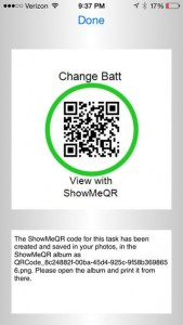 ShowMeQR Manager App for iPhone
