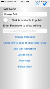 iPhone ShowMeQR Manager App