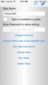 iPhone ShowMeQR Manager App