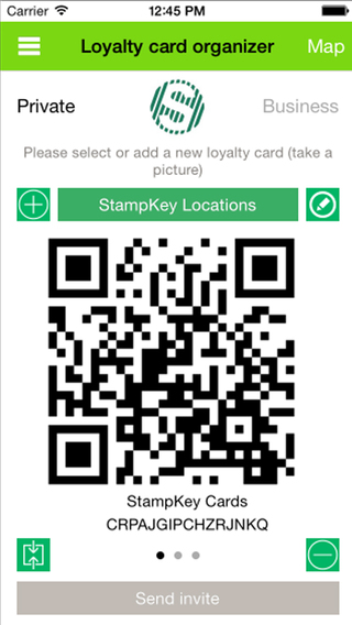 StampKey Card Management App for iPhone
