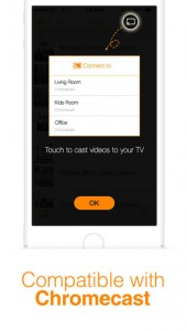 iPhone Zimly with Chromecast App