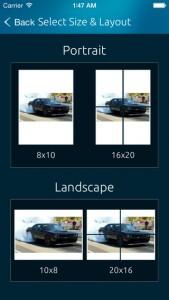 iPhone scale2print Photo App