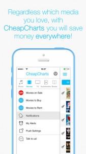 iPhone CheapCharts iTunes Music App