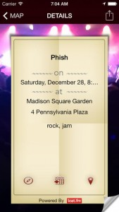 iPhone Live Music Map App