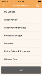 iPhone Traffic Incident Gathering App