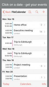 FileCalendar for iPhone