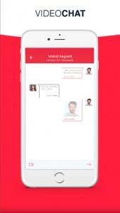 A free video matching app